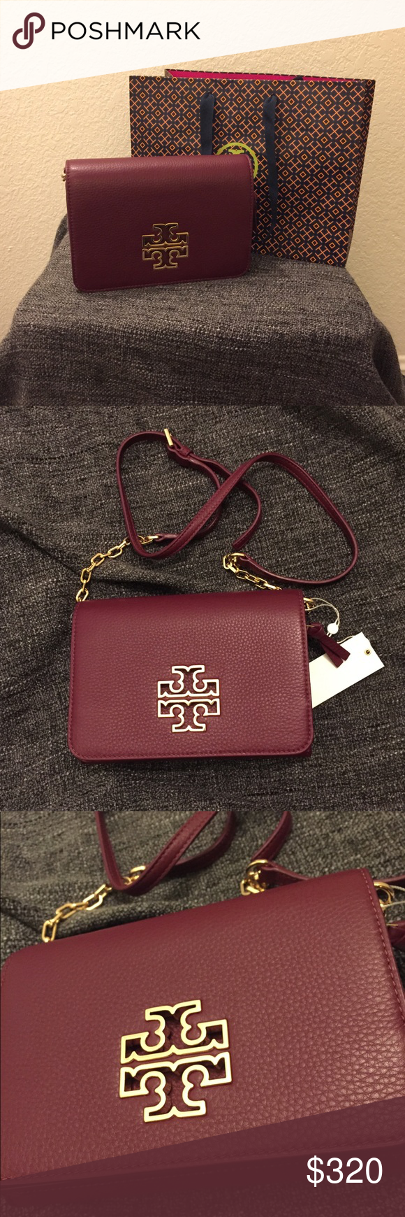 1de658dc282 Tory Burch Britten Combo Crossbody Authentic. Brand new with tags. The  color is Red Agate. Tory Burch Bags Crossbody Bags