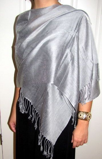 must have silver chiffon wrap from yours elegantly spring scarves Silver Evening Jacket Shawl must have silver chiffon wrap from yours elegantly