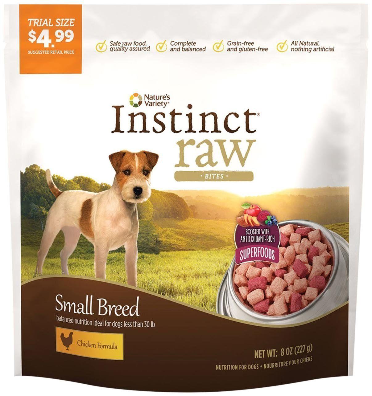 Nature S Variety Instinct Raw Frozen Grain Free Bites Superfoods For