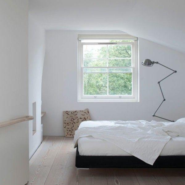 Kleines Schlafzimmer Einrichten Minimalismus Alles Weiß Hell   Langweilig