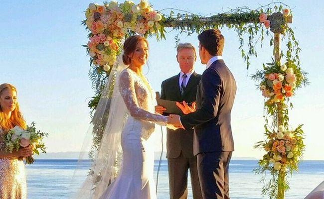 Alex Morgan and Servando Carrasco wedding day