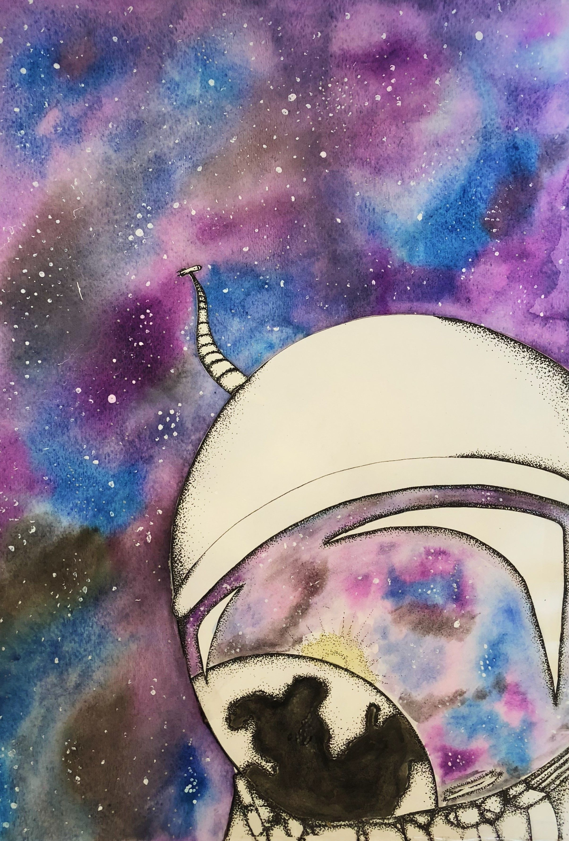 Astronaut In Space Painting Print Check Out These Cool Galaxy Paintings On This Etsy Shop For More Galaxy Painting Space Painting Painting Prints