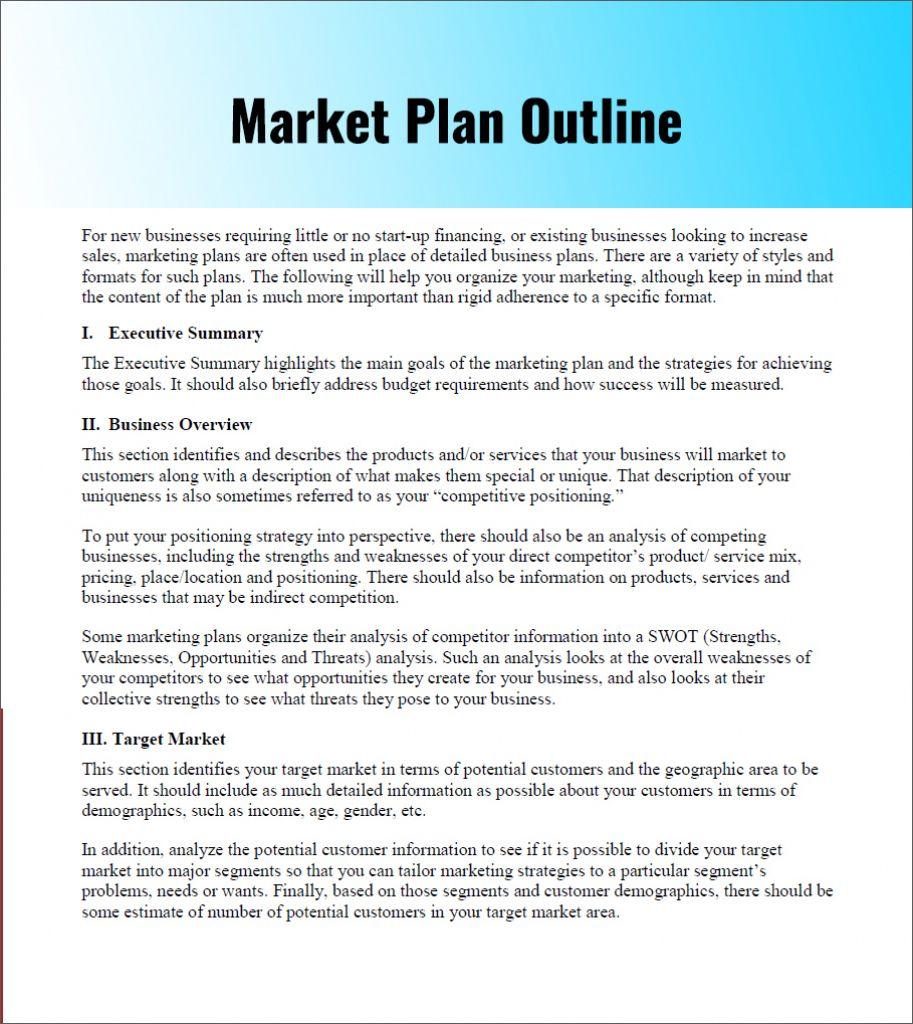 Designing a Marketing Plan Proposal Template Marketing