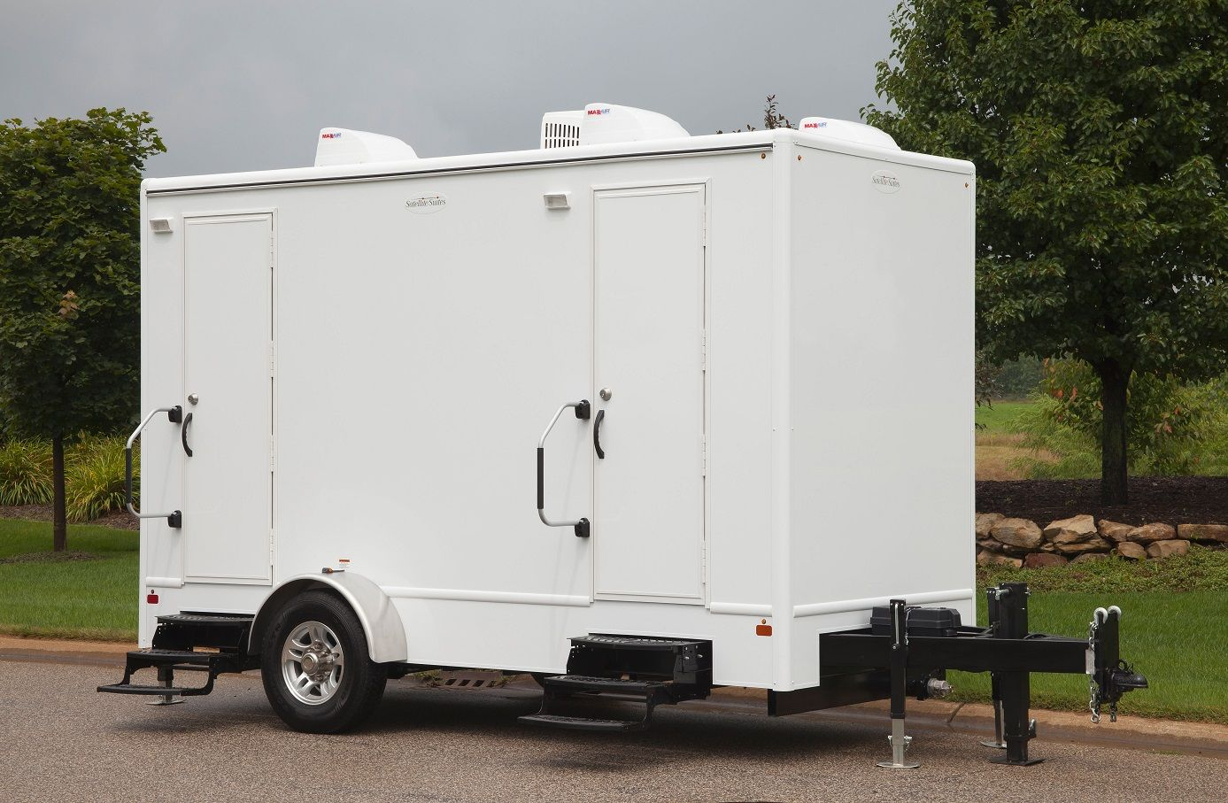 Announcing the powder room restroom trailers sperry tents