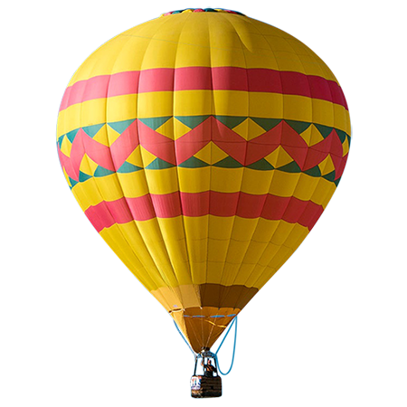 This cutout hot air balloon is cutout and ready to go in