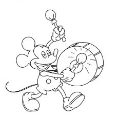 mickey mouse playing drums  mickey mouse coloring pages coloring pages cool coloring pages