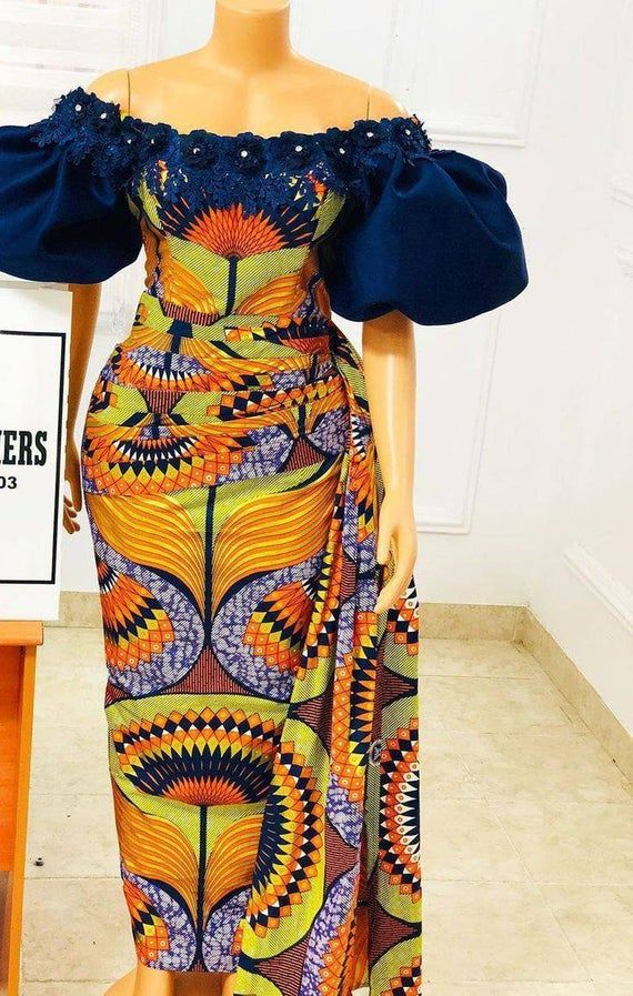 Latest African Event outfit, draped