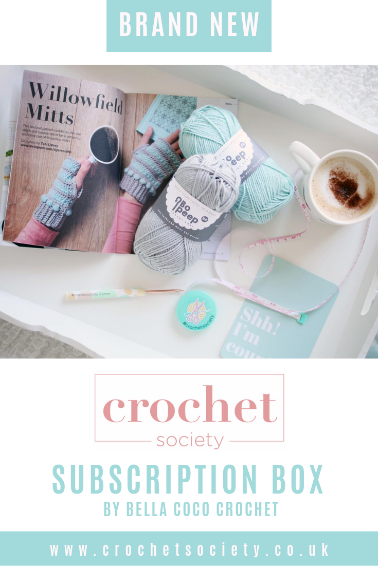 Take A Look At The Brand New Crochet Subscription Box By Bella Coco Crochet Find Out About The Crochet Society Monthly Subsc Crochet Yarn Inspiration Yarn Art