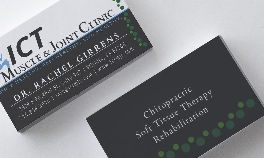 Ict muscle joint clinic business card design by igniting business ict muscle joint clinic business card design by igniting business branding businesscarddesign marketing colourmoves
