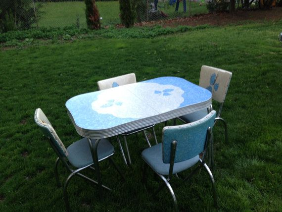 Vintage Formica Kitchen Table Set by LaurJeanne on Etsy $500.00 & Vintage Formica Kitchen Table Set by LaurJeanne on Etsy $500.00 ...