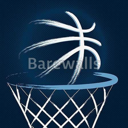"""Blue Basketball Illustration"" - Basketball posters and prints available at Barewalls.com"
