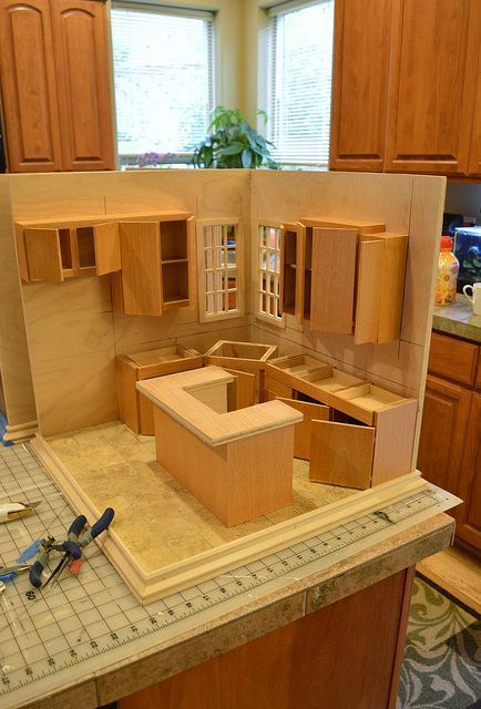 Kitchen Roombox In Progress In 1 12 Scale Best Doll House Doll House Plans Barbie Doll House