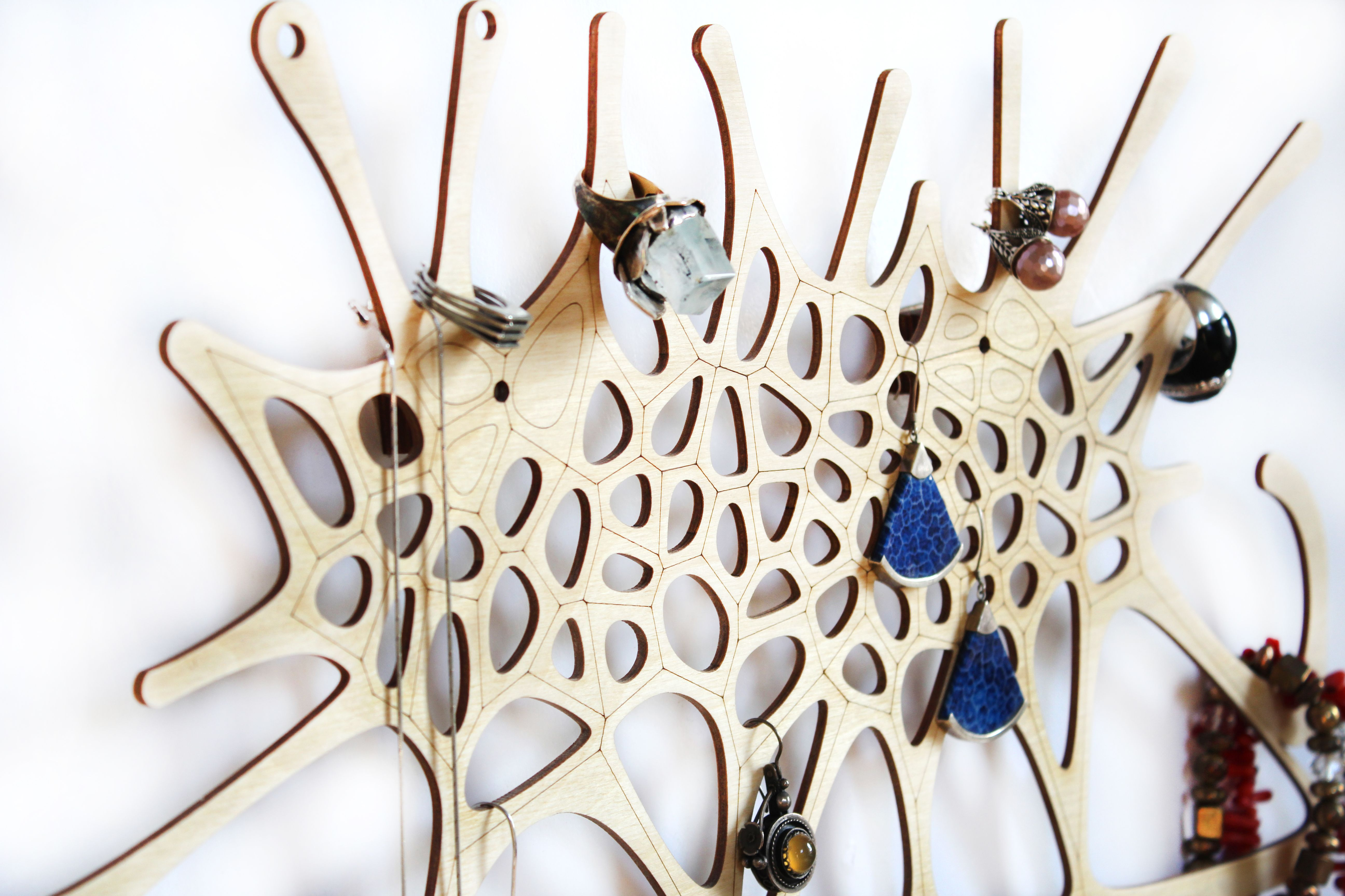 Jewelry Holder Organizer Stand Jewellery Display Tree Modern Plywood
