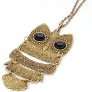 Bronze Retro Owl Pendant Style Necklace Just $.95 Shipped!