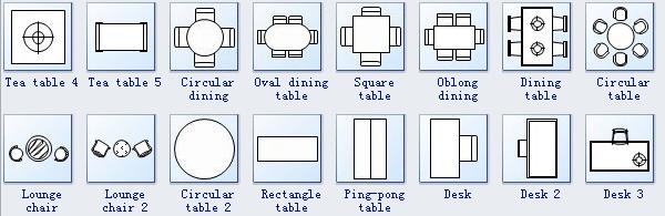 Simbolos Mobiliario Floor Plan Symbols How To Plan Seating Plan