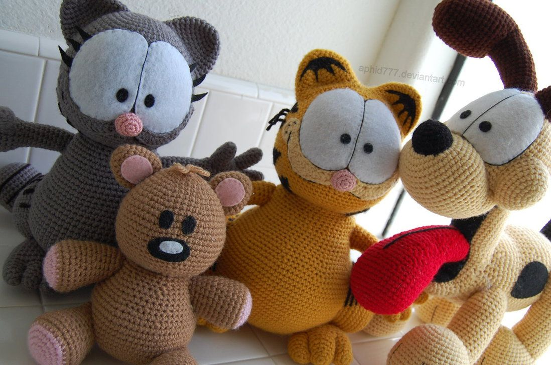 Amigurumi Garfield > Ideias, Modelos e Vídeos Passo a Passo ... | 728x1098