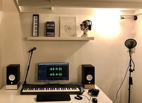 Look At This Clean Bedroom Studio Thanks To Andrealupi For Submitting Music Studio Room Bedroom Studio Home Studio Music