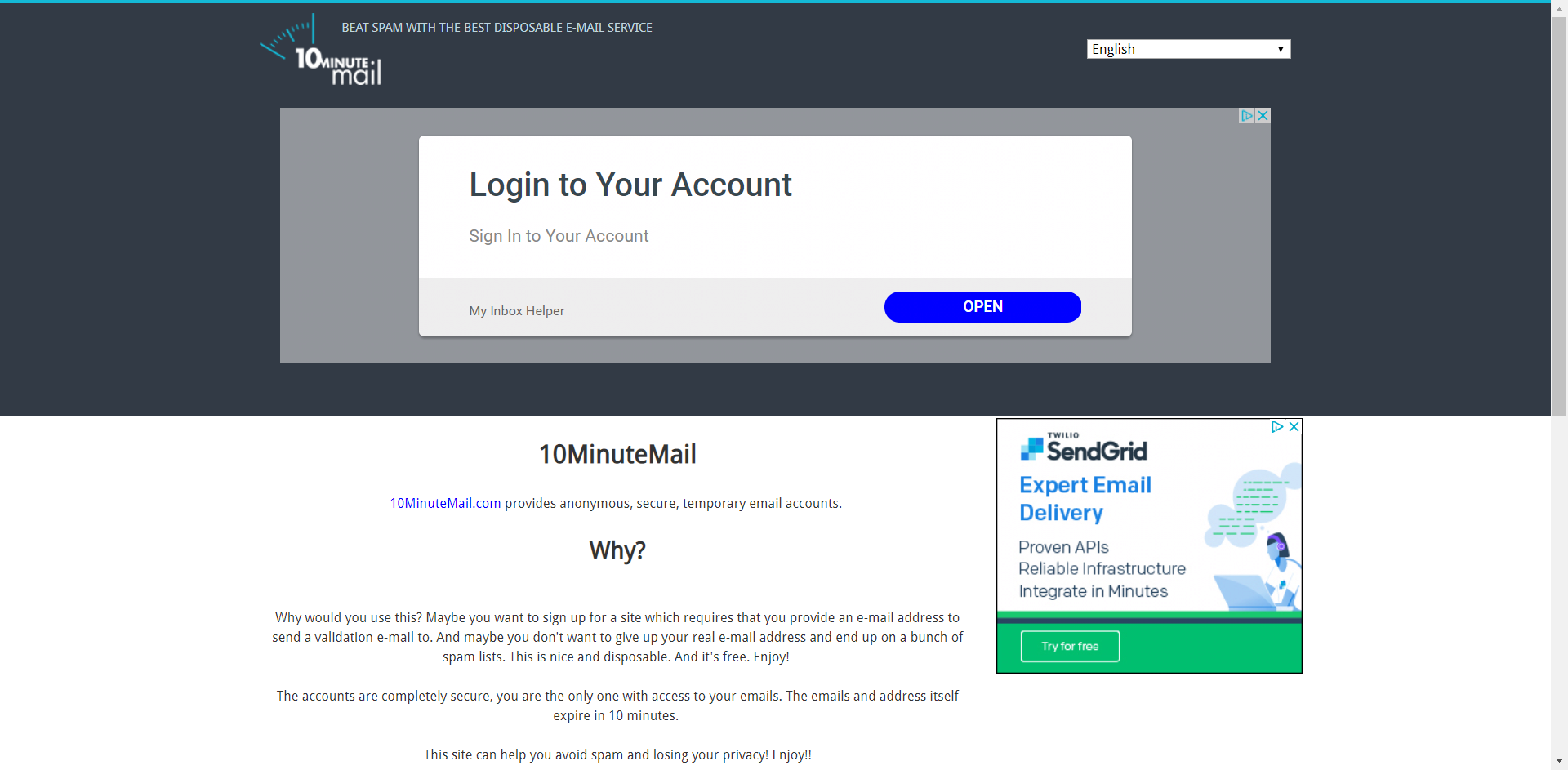 10 Minute Mail - Temporary E-Mail | Finance, Money, BUDGET