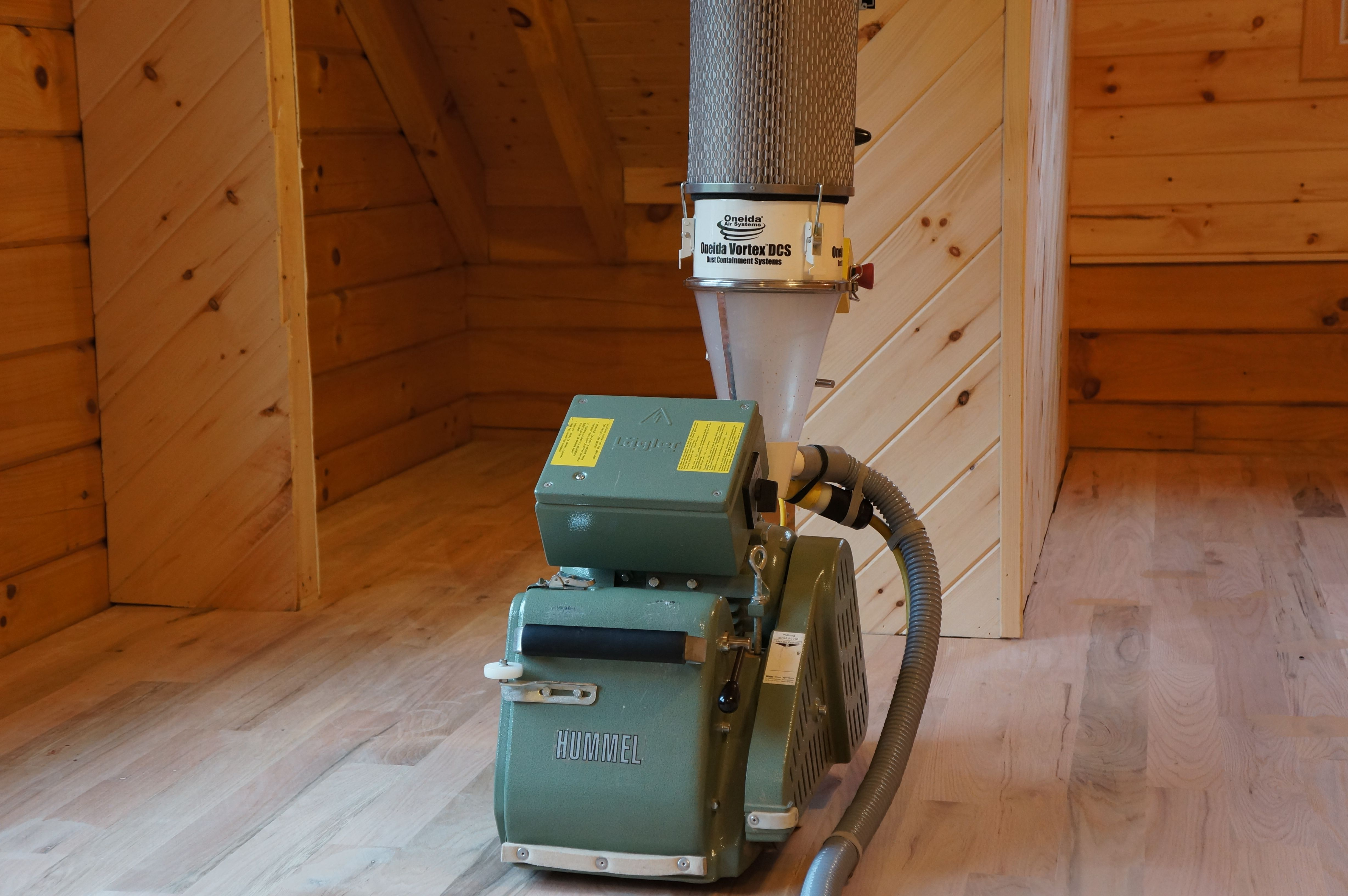 Our Hummel Sander With Atached Oneida Air Systems Sander