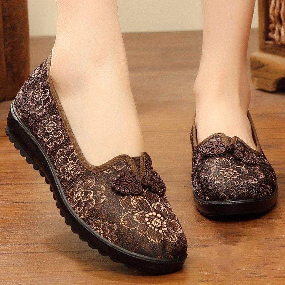 Billige Frauen Bequeme Weiche Blumen Aus Echtem Leder Slip On Flats Newchic Mobile Schuhe Frauen Flache Schuhe Damen Lederschuhe Damen