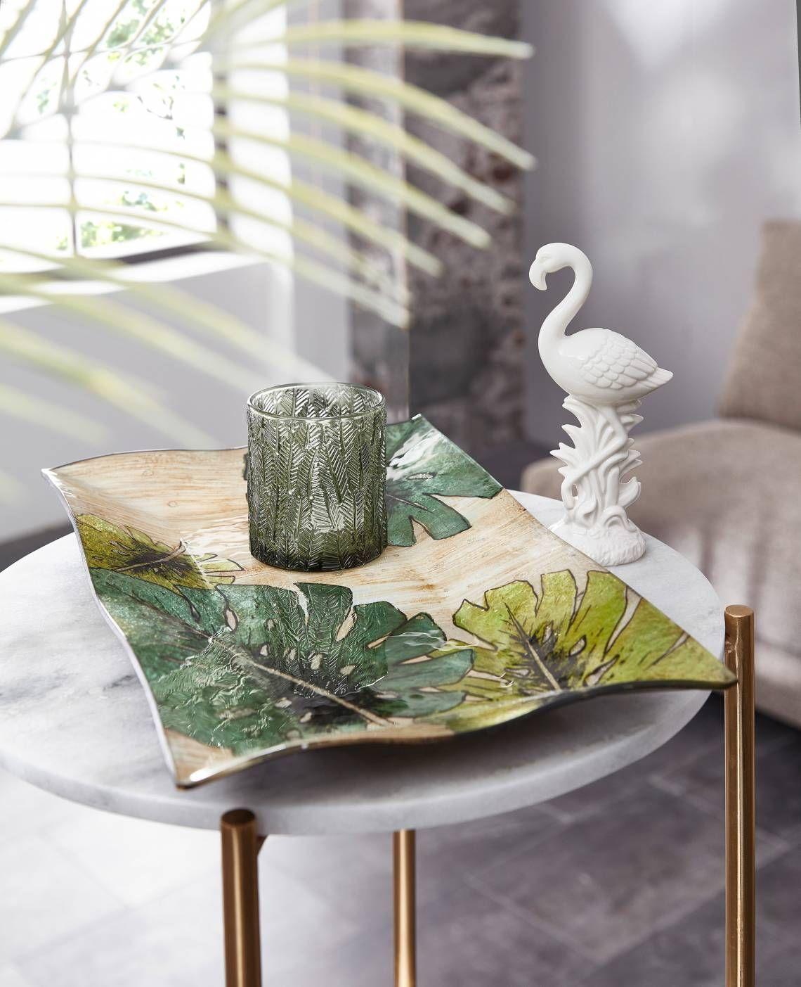Formano Deko Teller Windlicht Und Flamingo Milieu Wohnzimmer In