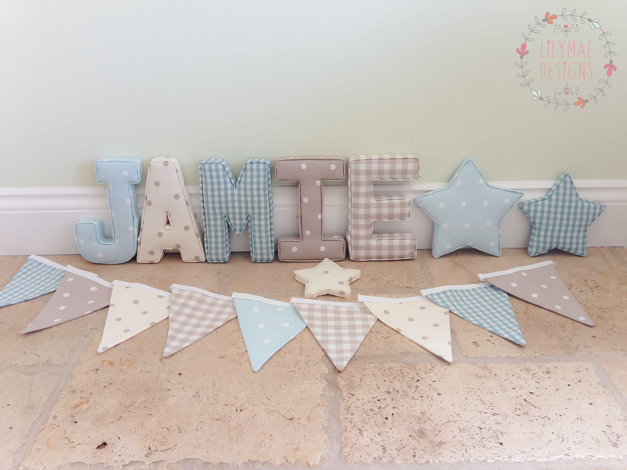 Fabric Star Sets Lilymae Designs Home Decor Nursery Wall
