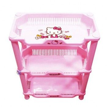 Hello Kitty Opbergrek.Hello Kitty Detachable Plastic 3 Layer Shelf Storage Rack