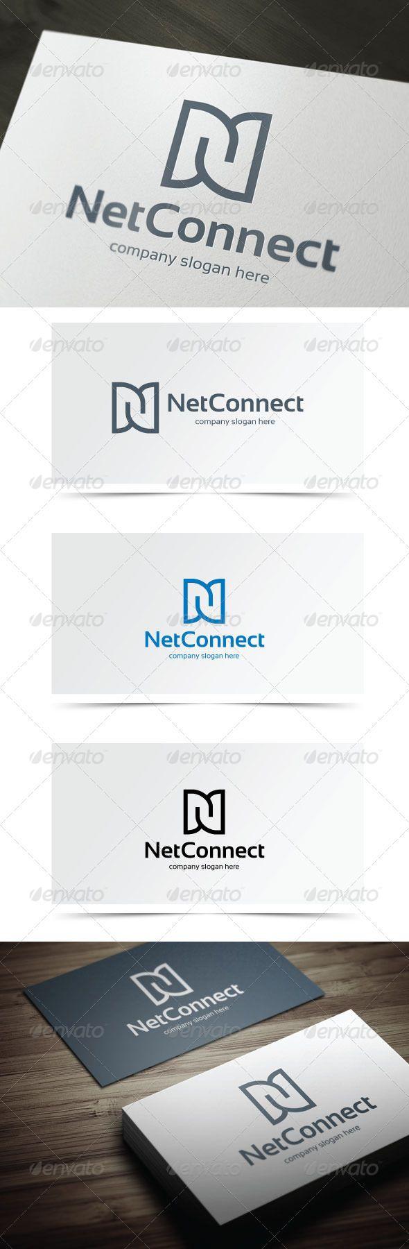Net Connect Logo templates, Vector logo, Logo design