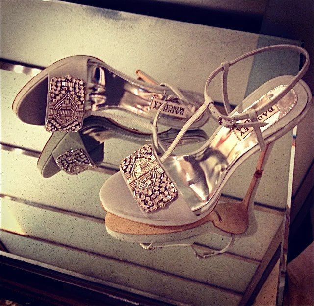 A closer look... Badgley Mischka shoes.