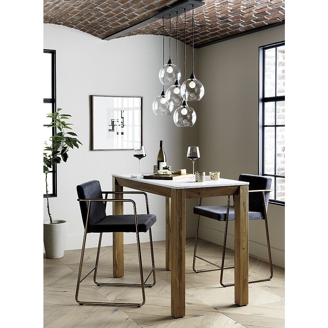 Shop Firefly Dining Room Pendant Light. Industrial Modern Chandelier  Suspends Five Glass Globes From Black