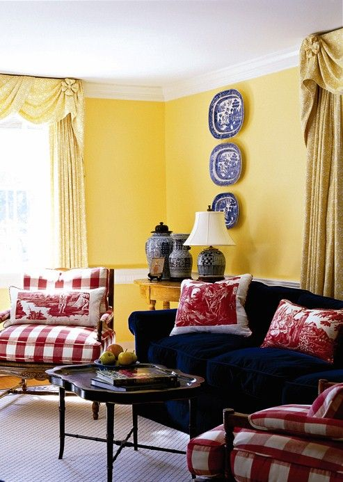 New home interior design decorating gallery living  family rooms french country house also best by color red yellow and blue images in rh pinterest