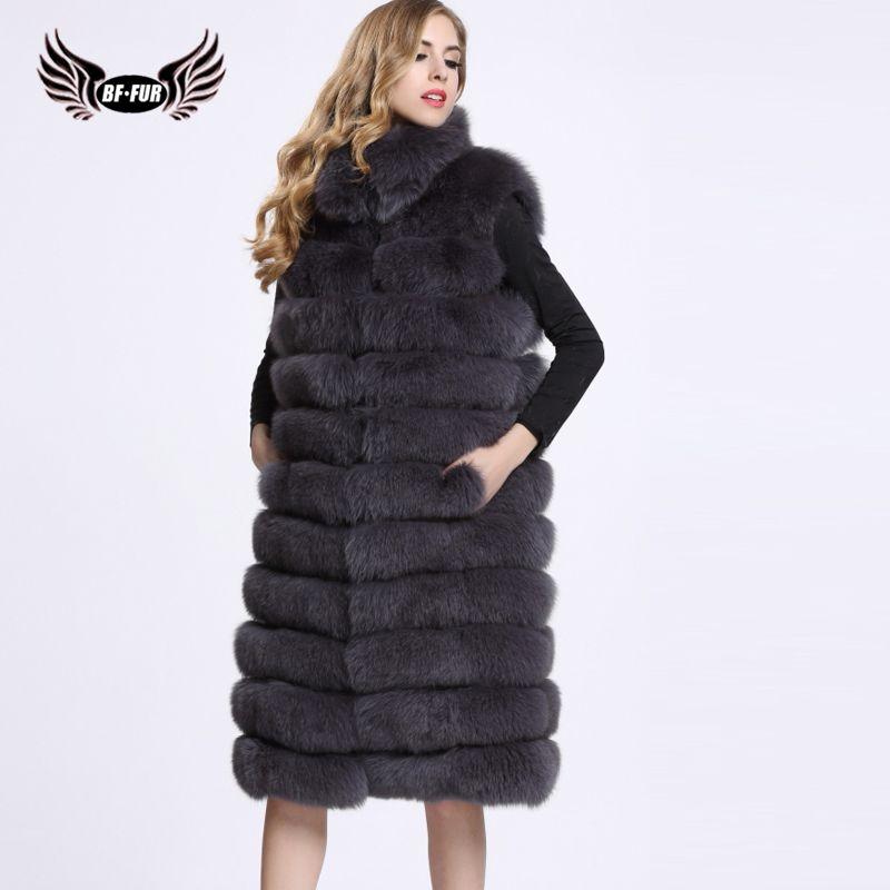 SQXR FUR 100% Real Fox Fur Vest Natural Whole Fox Fur Vest