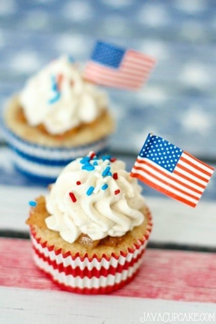 Patriot Day Apple Pie Cupcakes | JavaCupcake.com