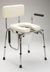 Drop Arm Commode With Padded Seat by Bedside-Commodes. $189.92. Pail ...