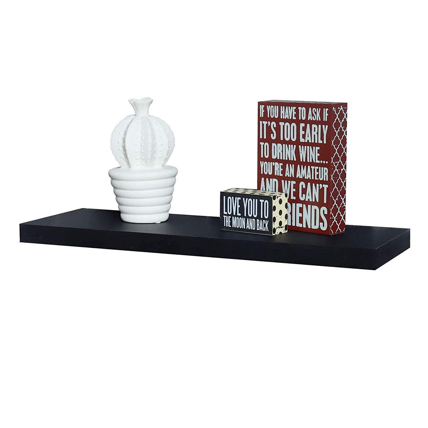 Simons Floating Wall Shelf 24 L X 8 D X 1 25 T Floating Wall Floating Wall Shelves Ledge Shelf