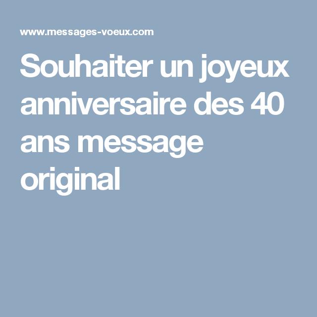 Message Anniversaire 20 Ans Original
