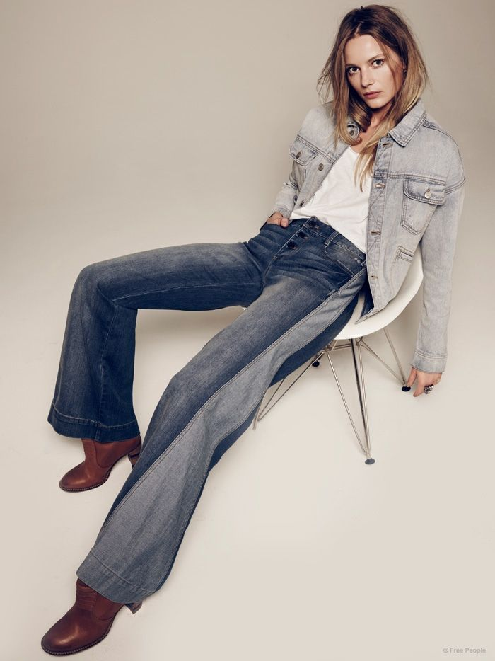 e95b43cd3189 Launching its spring preview, Free People has tapped model Ieva Laguna for  its February lookbook featuring casual style. From utilitarian pockets to  flared ...
