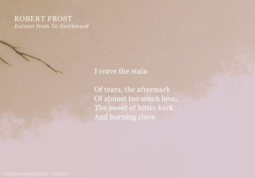 to earthward robert frost