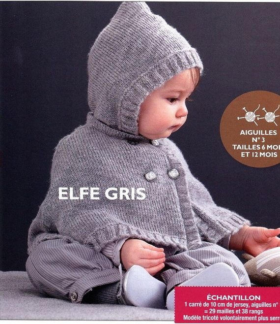 English Baby Hooded Cape Knitting Pattern Pdf By Aliceincraftyland
