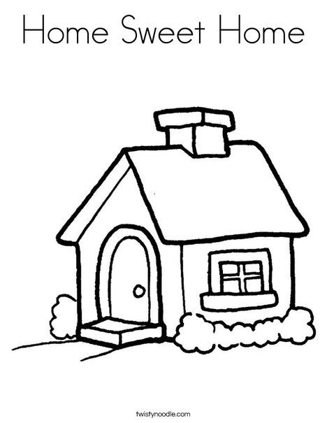 home coloring pages Home Sweet Home Coloring Page   Twisty Noodle | inspiration and  home coloring pages