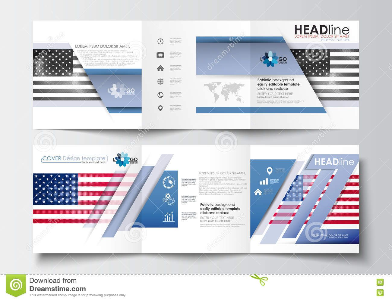 blank infographic template trifold set of business templates for