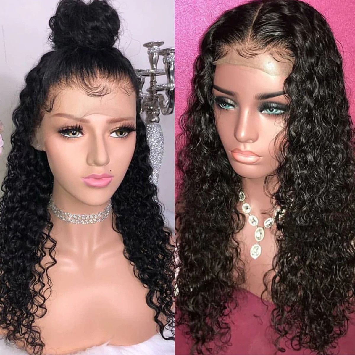 Pin By Lwigs On Lwigs New Arrival Hair Style Human Hair Lace Wigs Curly Human Hair Wig Curly Lace Front Wigs