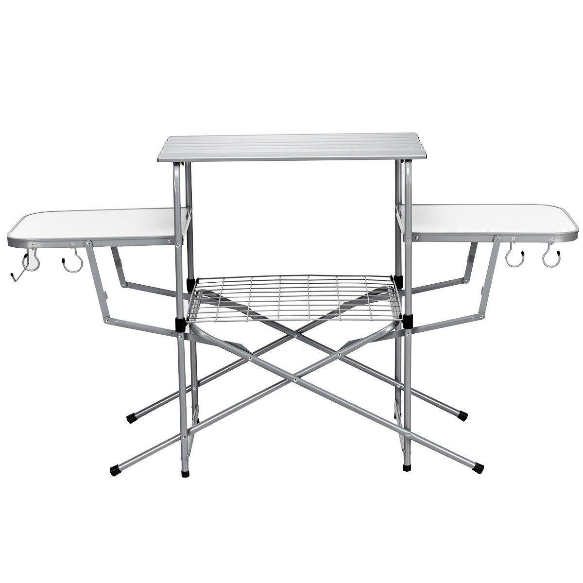Foldable Outdoor Bbq Table Grilling Stand With Images Outdoor Kitchen Bbq Table Camping Table