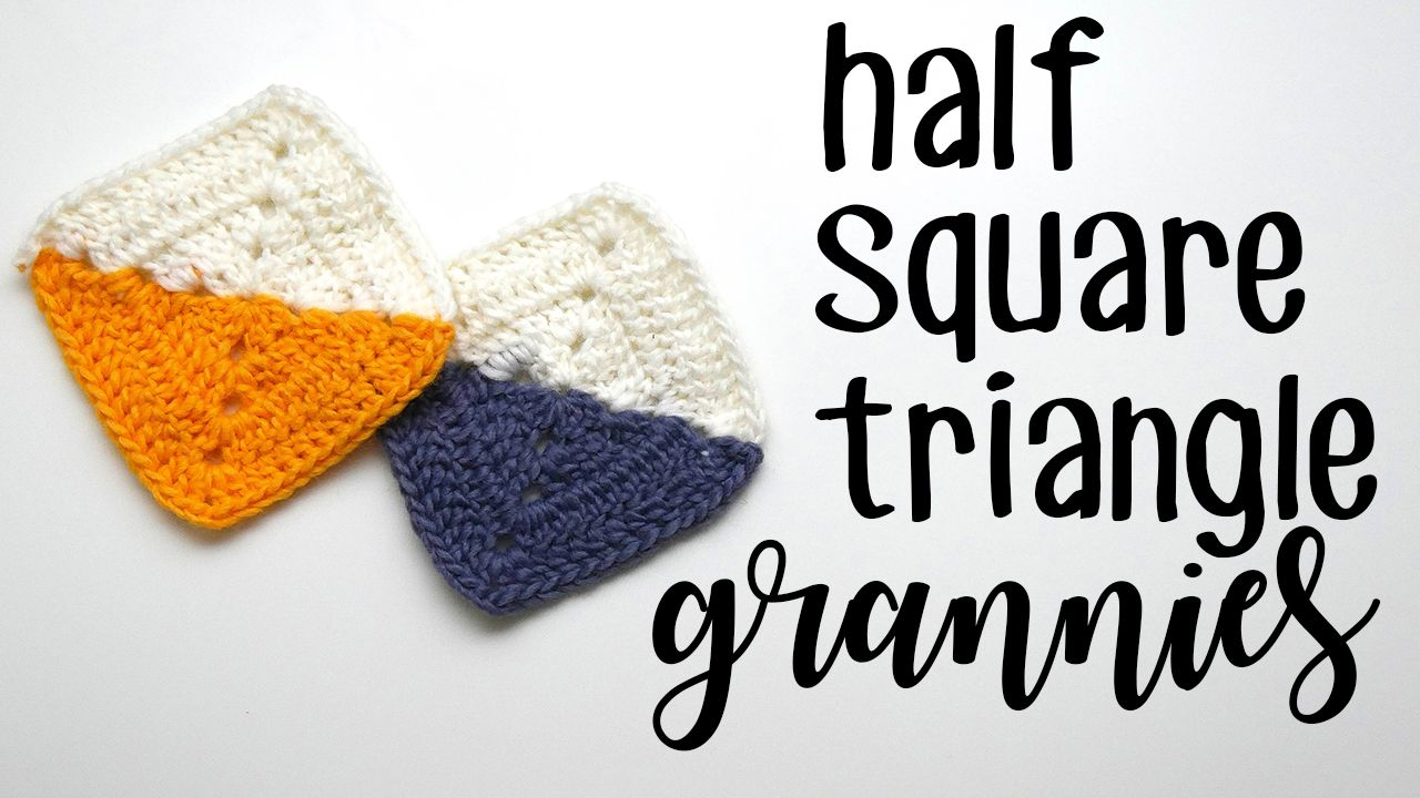 Crochet Half Square Triangle Grannies | Crochet | Pinterest