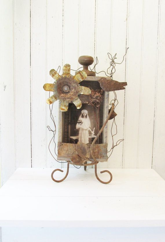 Assemblage Art Shadowbox with Vintage by SassytrashDesigns on Etsy ...