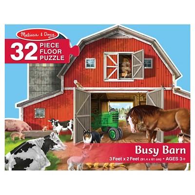 Melissa & Doug Busy Barn Shaped Jumbo Jigsaw Floor Puzzle
