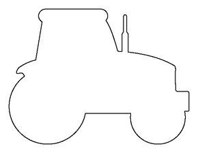 Tractor pattern. Use the printable outline for crafts, creating ...
