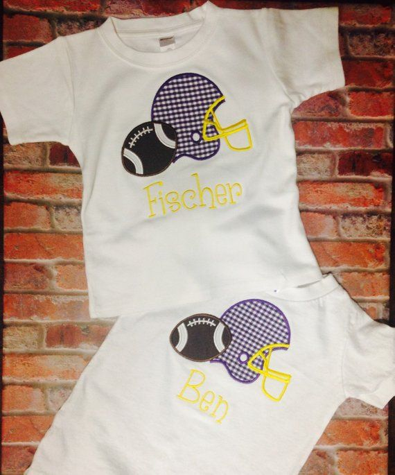 ece97e19feed Baby boy and toddler shirt  LSU Tigers football tailgate and game day shirt   appliqued football and