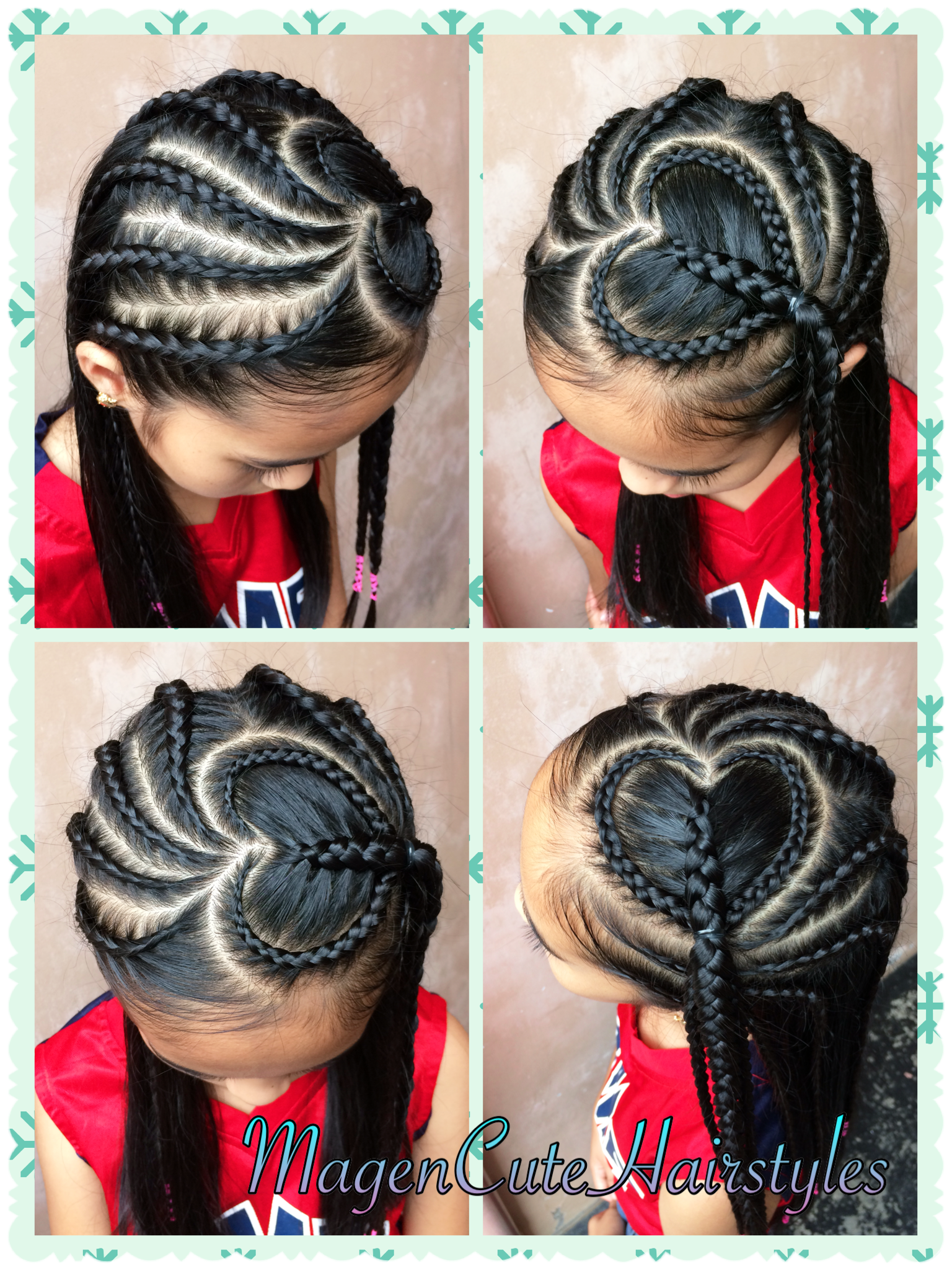 Heart Shape Dutch Braid Style Kids Hairstyles Natural Hair Styles Hair Styles
