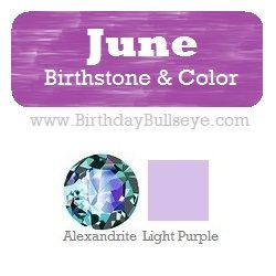 june birthstone color light purple coordinating with it